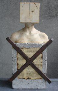 Home Creuat 2003, concrete-staal-raisin, 27 x 15 cm h x b