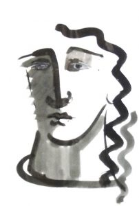 Francesca Zijlstra, 'Son Palou Vell' 2000, studie o.i.-tekening 50 x 40 cmx 9 cm h xb