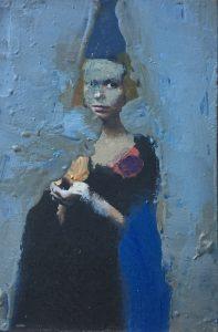 Bobkin - Detail schilderij Meisje