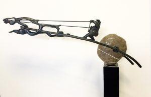 Willem Lenssinck, 'Donar en Sleipnir het wolkenpaard' 2005, brns, 27 x 80 x 16 cm, hxbxd