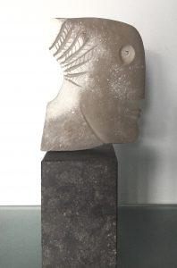 Francesca Zijlstra 'Silex kopje' 2001, brons, unicum, 22 x 14 cm h xb