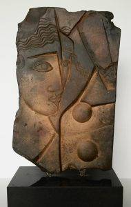 """Francesca Zijlstra, """"Leda zpmder zwaan' 2000, brons, sokkel graniet, 31 x 19 cm h x b"""
