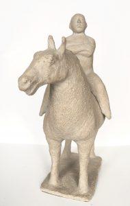 Theo van de Vathorst, 'Ruiter te paard' 1998, ceramic, 44 x 35 cm h x b