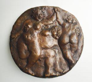 Theo van de Vathorst, 'Feest 2012', brons 25 cm ø