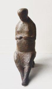 Joop Hekman, 'Oude spaanse vrouw, 1970, brons, 25 cm h