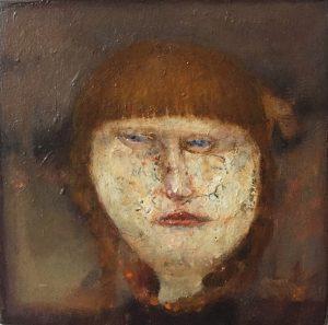 José van Kleef, portret meisje, 2013, olieverf op paneel