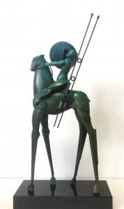 Willem Lenssinck, 'Ruimtepaard II 2015, brons, 52 x 21 cm hxb