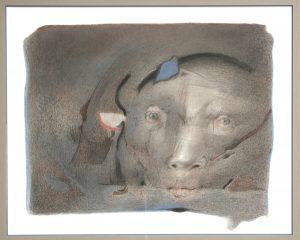 Octave Landuyt, 'Als elke nacht' 1996, pastel achter glas, 50 x 70 cm h x b