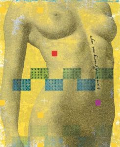 Jeroen Lenssinck, 'Nude Yellow' - giclee - 22x27cm