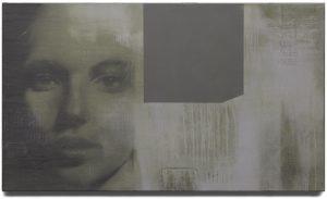 John van der Valk, Madonna, ( 2010 )gemengde techniek, acryl op linnen, 70 x 120 cm