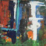 Jeroen Vermeulen - 'Appels, Hommage aan vader Piet', 2010, acryl op linnen 110 x 110 cm