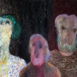 Leo Schatz, 'Drie hoofden' (1989) olieverf op linnen, 53 x 73 cm (hxb)
