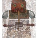 Jero Lenssinck, 'Girl with Flute' giclée, oilpastel 46 x 63 cm