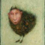 José van Kleef, 'Beestmensje' (2017) olieverf op paneel, 20 x 15 cm (hxb)