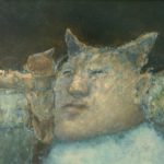 Jose van Kleef, 'Duiveltje' (1995) olieverf op paneel, 24 x 29,5 cm (hxb)