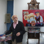 Leo Schatz in zijn atelier, 2006