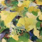 Nico Rypkema, 'The Song of the Birds', gemengde techniek, 21 x 27,5 cm (hxb)