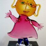 Juan Ripollès, 'Nina Sonriente' Murano/Venice/glas, 65 cm (h)