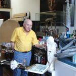 Octave Landuyt in zijn atelier in België (2005)