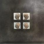 Josep Bofill, 'Quatro Perfils Clonicos' (2003) raisin-zinc, 45,5 x 43,5 cm