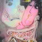 Juan Ripollès, 'Pensamiéntos' (2002), olieverf op linnen, 93 x 73 cm (hxb)