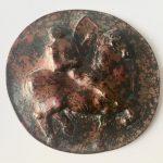 Fons Bemelmans, 'Ruiter te paard' penning brons 15 cm (ø)