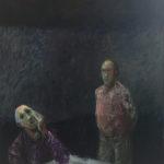 Leo Schatz, 'Twee Mannen' (1980) olieverf op linnen, 90 x 80 cm (hxb)