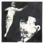 Uschi Klaas - 'Amphoren Frau' 2010, 28 x 28 cm, gouache op papier