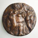 Theo van de Vathorst, 'Feest' (2012) brons 25 cm ø
