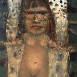 Jose van Kleef, 'Godin' (1999) olieverf op paneel, 31,5 x 18 (hxb)