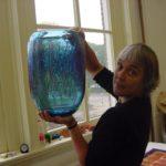 Thea Figee in haar atelier te Utrecht
