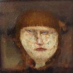 Jose van Kleef, 'Portret meisje' (2013) olieverf op paneel, 20 x 20 cm (hxb)