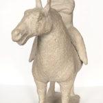 Theo van de Vathorst, 'Ruiter te paard' (1998) keramiek, 44 x 35 cm (hxb)