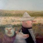 Jose van Kleef, 'Trio' (1994) olieverf op paneel, 40 x 35 cm (hxb)
