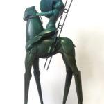 Willem Lenssinck, 'Ruimtepaard III' (2015) brons, 52 x 21 cm (hxb)