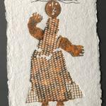 Juan Ripollès - 'Niña Coupela Marron', materie-ets, 47 x 68cm