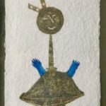 Juan Ripollès - 'Niña con Lazo Azul', materie-ets, 65 x 100cm