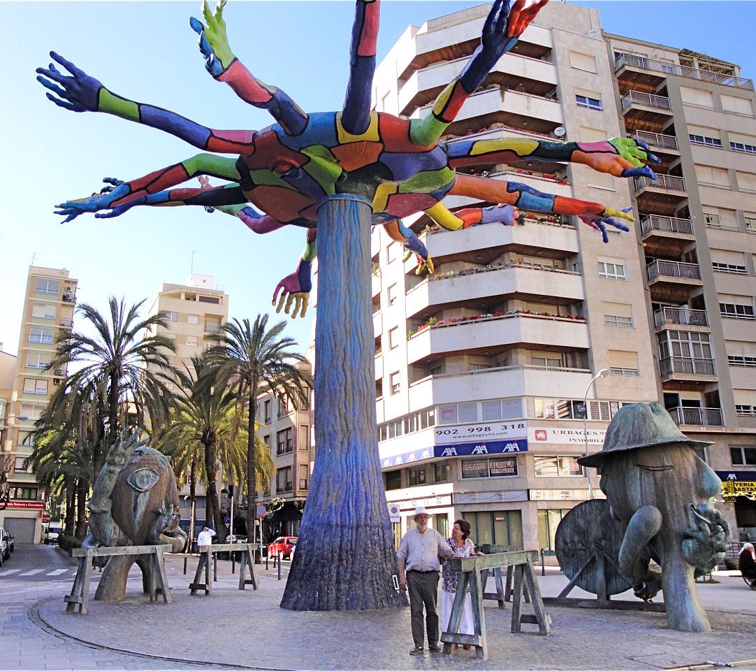 Ripollès sculptuur in Castellón, Spanje