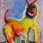 'Faun', 2005, acryl op linnen, 90 x 70 cm hxb