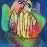'Musico', 2002, olieverf op linnen 195 x 130 cm