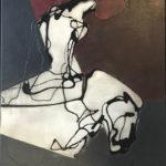 HEINRICH BROCKMEIER 'Amazone' (2019), olieverf op linnen, 60 x 50 cm hxb
