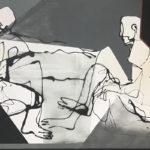 HEINRICH BROCKMEIER 'Kommunikation' (2019), olieverf op linnen, 100 x 160 cm hxb