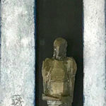 KLAAS/BROCKMEIER 'Veni Vidi' (2019), brons, olieverf op linnen, 30 x 120 cm