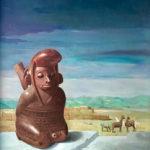 Piet Vermeulen, 'Peru' 1974, olieverf op doek , 34 x 38 cm hxb