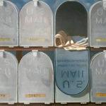 Piet Vermeulen, 'Mailboxen' 1972, olieverf op paneel, 60 x 79 cm hxb