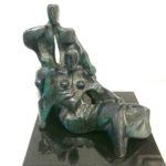 Fons Bemelmans, 'Zittend Paar', brons, 19 x 20 x 20 cm h x b x d