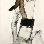 Uschi Klaas, Angel, olieverf op linnen, 150 x 65 cm h x b