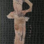 Uschi Klaas, Al Portador, olieverf op linnen, 160 x 100 cm h x b