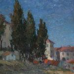 G.A. Morawetz 'Aux portes d'Arles', olieverf op paneel, 75 x 65cm h x b