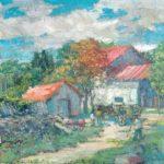 G.A. Morawetz 'Domaine au Alyscamps', 1958, olieverf op linnen, 50 x 50 cm, h x b